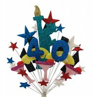 New York 40th birthday cake topper decoration - free postage